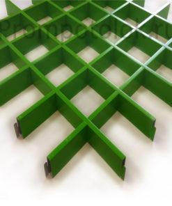 dizajnerskie-potolki-grilyato-zelenyj